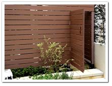 横張りフェンスと門扉製作